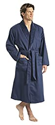 Monarch/Cypress Unisex Plush Lined Microfiber Robe X-Large Navy