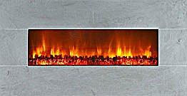 "Modern Flames 58"" Wall Mount Linear Electric Fireplace Limestone"
