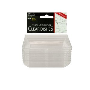 Clear mini dipping dishes, pack of 10