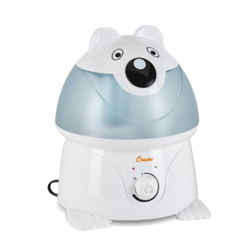Crane Adorable Ultrasonic Cool Mist Humidifier with 2.1 Gallon Output per Day - Panda