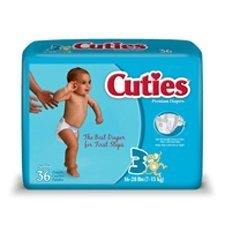 Cuties Cr3001 Size 3 Baby Diapers 144/Case front-694954