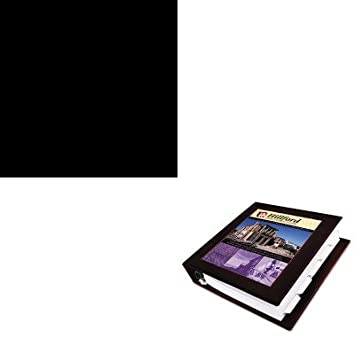 KITAVE68040HONS42ABCP - Value Kit - Avery Framed View Binder with One Touch EZD Rings (AVE68040) and The HON Company HON Brigade 3-Shelf Steel Bookcase, Black (HONS42ABCP)