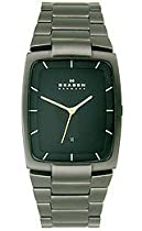 Skagen Designer Series Mens Three-Hand Date Steel Watch - Black Skw6047