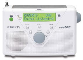 SolarDAB2 white DAB/FM solar powered radio