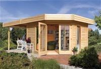 Karibu Gartenhaus Corner Cube natur