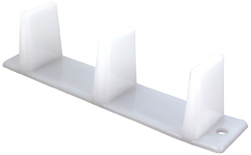 Prime-Line Products N 6563 Sliding Closet Door Bottom Guide, 4-3/16 in., Plastic, White (Pack of 2) (Door Closet Sliding compare prices)