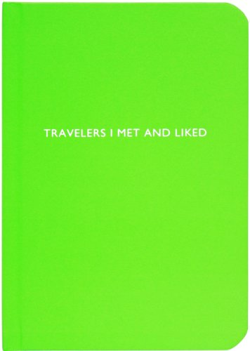 Archie Grand Travelers I Met and Liked Blank Notebook, Green (AG-P150)