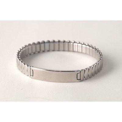 Ident Men's Plaque Expansion Bracelet in White