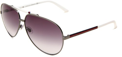 Gucci Gg 1933/S 6Xl Gun Metal/White Sunglasses