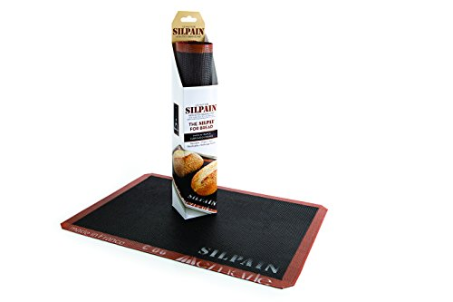Silpat Sn415290-02 Silpain Premium Non-Stick Silicone Baking Mat For Bread, 11 5/8 By 16-1/2-Inch, Black