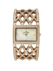 AK Anne Klein Crystal Collection Mother-of-pearl Dial Women's watch #10/8882MPRG
