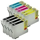 10 x (Two Sets Plus 2 Extra Black) of High Capacity Compatible Cartridges for use with Epson XP-30, XP-102, XP-202, XP-205, XP-302, XP-305, XP-402, XP-405 Printers by Delcomcomputers & Wantmoreink