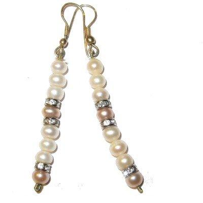 Pearl Earrings 01 Dangle White Pink Swarovski Crystal Healing Gemstone 2.5