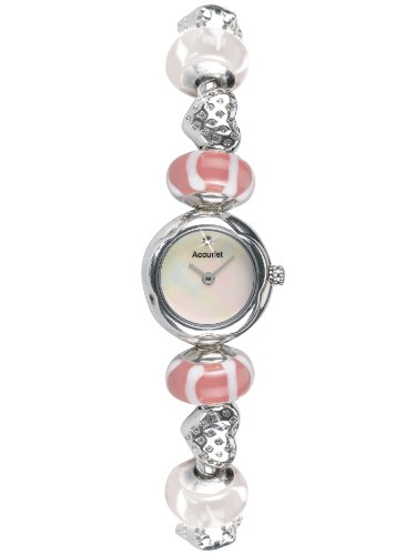 Charmed By Accurist Ladies Charm Bracelet Watch LB1605P Spring Blossom