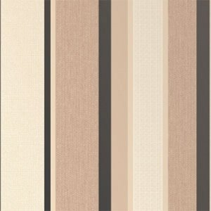 Whitewell interiors zara stripe black cream wallpaper for Black and cream wallpaper