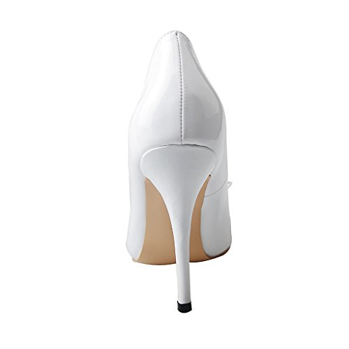 shoesofdream women s pointed toe bowtie patent leather