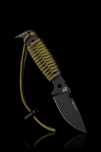 DPx Gear HEST II Assault Fixed Blade Knife,3.15in, Black Satin Tool Steel Blade w/ Coyote Brown