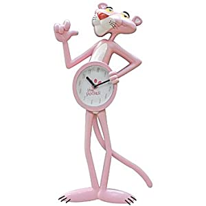 Amazon.com - Animated Moving Arm & Tail Pink Panther Wall Clock -