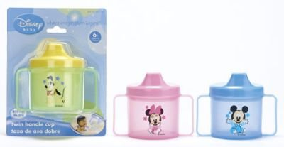 Disney Baby Mickey Mouse Cup with Double Handles (3-Pack) Assorted