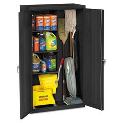 * Janitorial Cabinet, 36w x 18d x 64h, Black *
