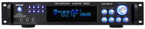 Find Discount Pyle P2001AT 2000W Hybrid Pre Amplifier with AM/FM Tuner