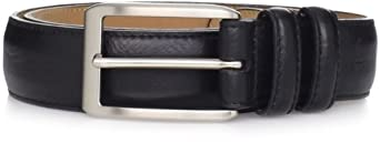Dockers Men's Feather Edged Belt, Black, 34