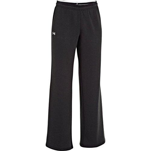 Under Armour Women's UA Team Rival Fleece Pants, Black/White, Large