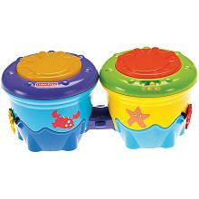 Fisher-Price Ocean Wonders Deep Blue Sea Crawl Along Drum Roll - 1