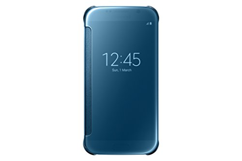 Samsung S-View Flip Cover for Samsung Galaxy S6 - Clear Blue
