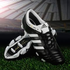 adidas adiPure II TRX FG Mens Football Boots Black/White/Gold 6 UK UK