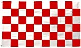 Flag - Material 5ft x 3ft - Chequered/Finish Line - Red