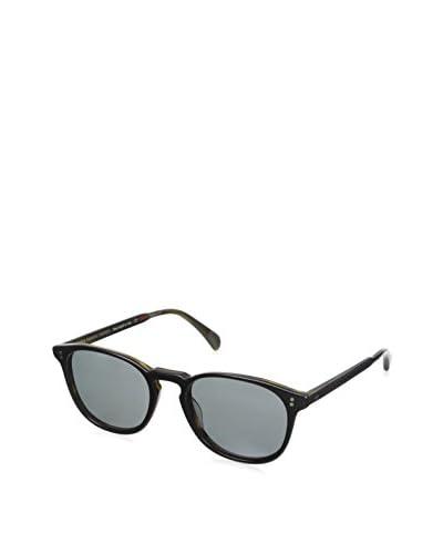 Oliver Peoples Unisex Finley Esq. Sunglasses, Semi Matte Black/Moss Tortoise