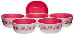 Nayasa square bowl set 6pcs (DLX) pink