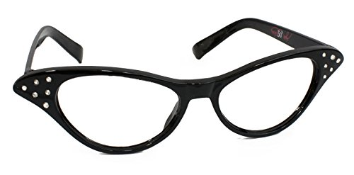 Hip Hop 50s Shop Cateye Glasses Child/Youth, Black