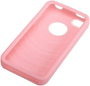 AmazonBasics Case for Apple iPhone 4 Pink Silicone