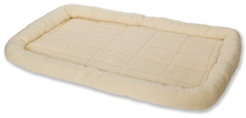 Little Giant Pet Lodge Fleece Pet Bed, 41 Inch Extra-Large Size, Cream