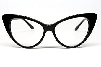 Amazon.com: Super Cat Eye Glasses Vintage Inspired Mod