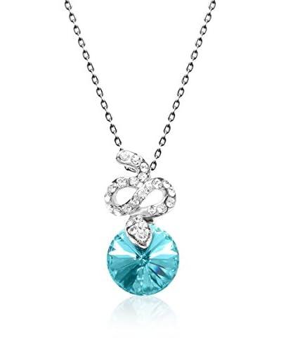 Absolute Crystals Set catenina e pendente Snake Rivoli Acquamarina