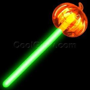 Glow Pumpkin Wand - Green