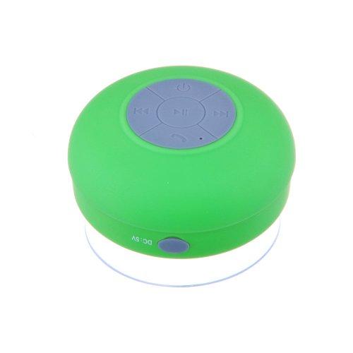 Newisland Portable Waterproof Bluetooth V3.0 + Edr Shower Speaker Handsfree Speakerphone With Suction Cup (Green)