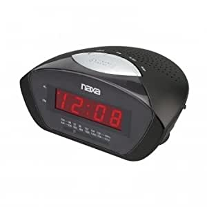 naxa nx 160 digital alarm clock with am fm radio snooze electronics. Black Bedroom Furniture Sets. Home Design Ideas