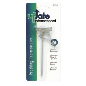 "Update International THFR-17L Dial Frothing Thermometer with Chip, 8.25"" from Update International"
