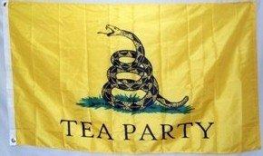 3'X5' Tea Party Flag, Gadsden Tread Republican