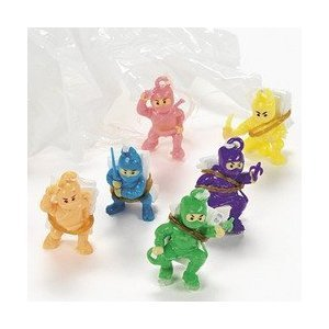 Mini Ninja Warrior Paratroopers (4 dz) [Toy]