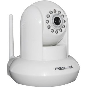 Foscam FI8910W Pan & Tilt IP/Network Camera with Two-Way Audio and Night Vision (White)