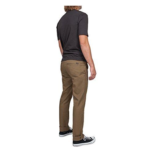 Brixton grana da uomo Chino pantaloni Dark Khaki 32W x 32L (US Taglia)