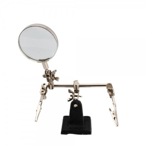 Usongs Magnifier 5X Magnifying Glass With Supporting Fixture Clip Clamp Loupe For Stamp Collector Jeweler Map Reader Watch Repair