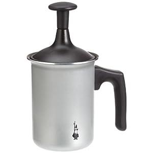 Bialetti Tutto Crema Milchaufschäumer mit Doppelsieb für einen stabilen Milchschaum