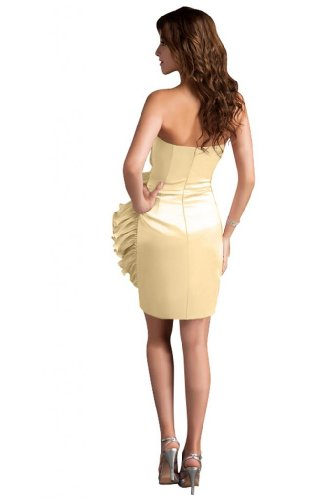 31PljZAuQlL Sale off: Emma Y Lady Womens Strapless Handmade Flower Short Dress