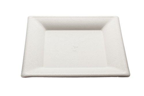 Piatto quadrato Design monouso 26 cm - 50 pz - Biodegradabili e Compostabili